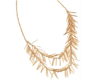 Golden Necklace- Pine Leaves